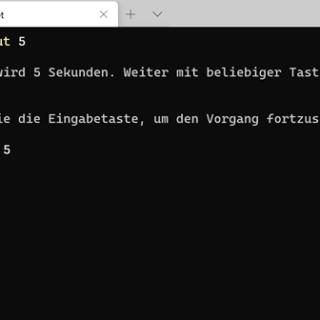 PowerShell Skript pausieren