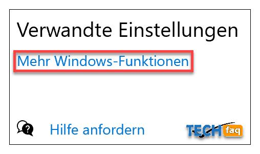 Windows Funktionen hinzufügen