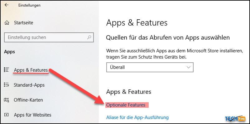 RSAT in Windows 10 aktivieren
