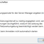 Aktualisierungsintervall des Server-Managers anpassen