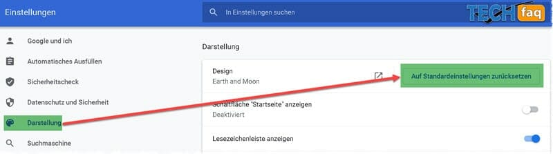 Google Chrome Hintergrund deinstallieren