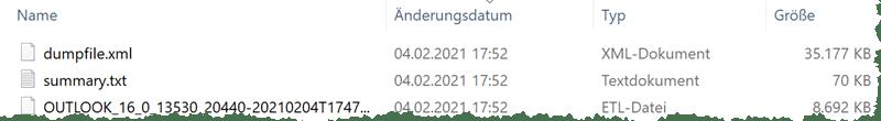 Outlook Dumpfile - Log analysieren