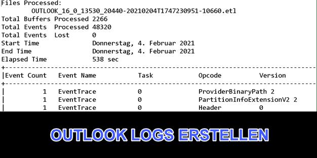 Outlook Logfiles - Nützliche Protokolle für die Fehlersuche