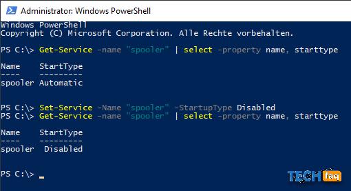 Windows Dienste konfigurieren mit PowerShell