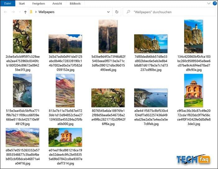 Die gespeicherten Sperrbildschirm Bilder im jpg-Format