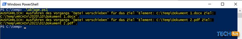 Dateien nach Datum sortieren