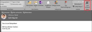 Outlook E-Mail vorlesen lassen