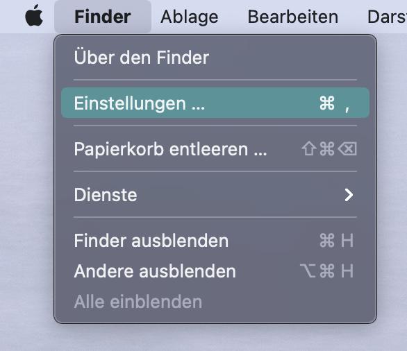 Dateiendungen in macOS anzeigen